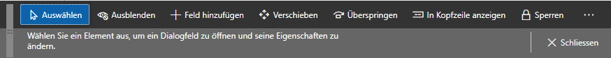 Personalisierungs-Leiste in Microsoft Dynamics 365 for Finance and Operations